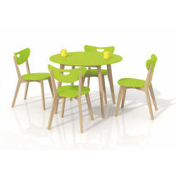 Set masa HM Peppita verde plus 4 scaune Peppi