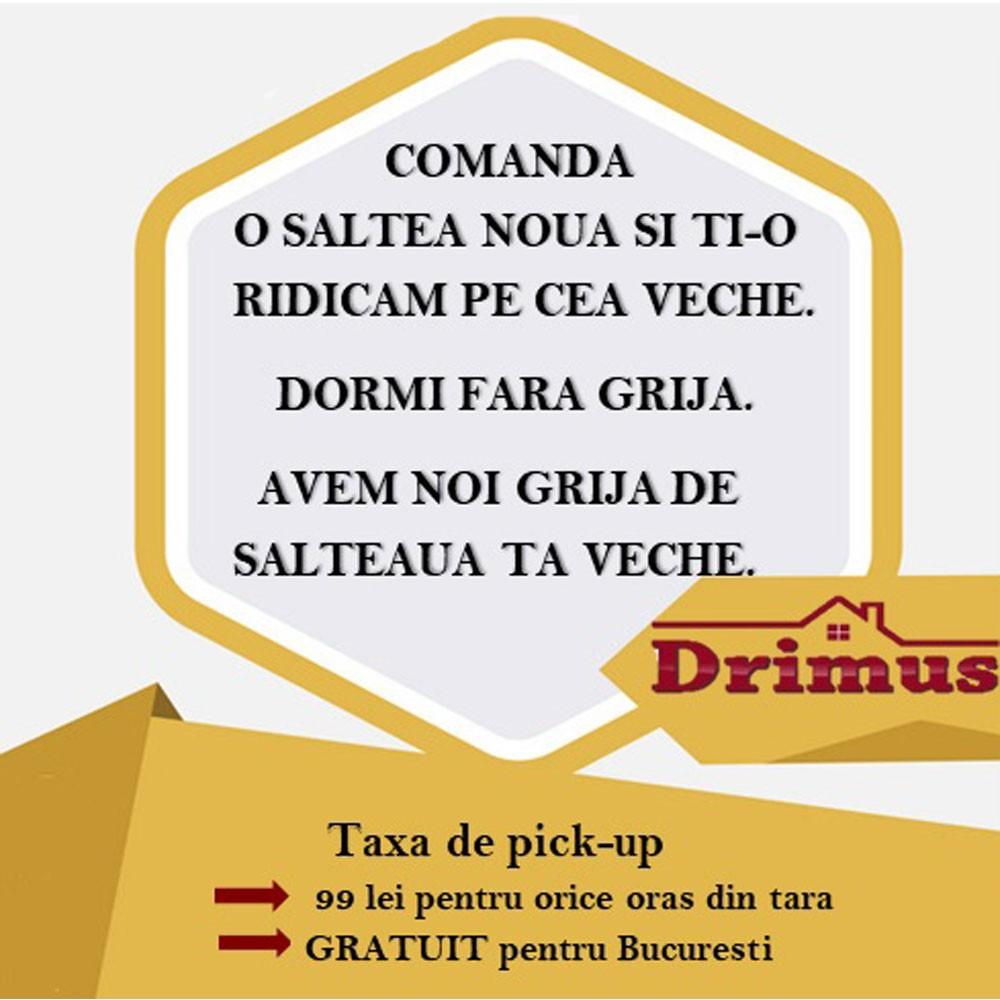 saltea ulise standard spring comfort 180x200 plus 2 perne microfibra 50x70