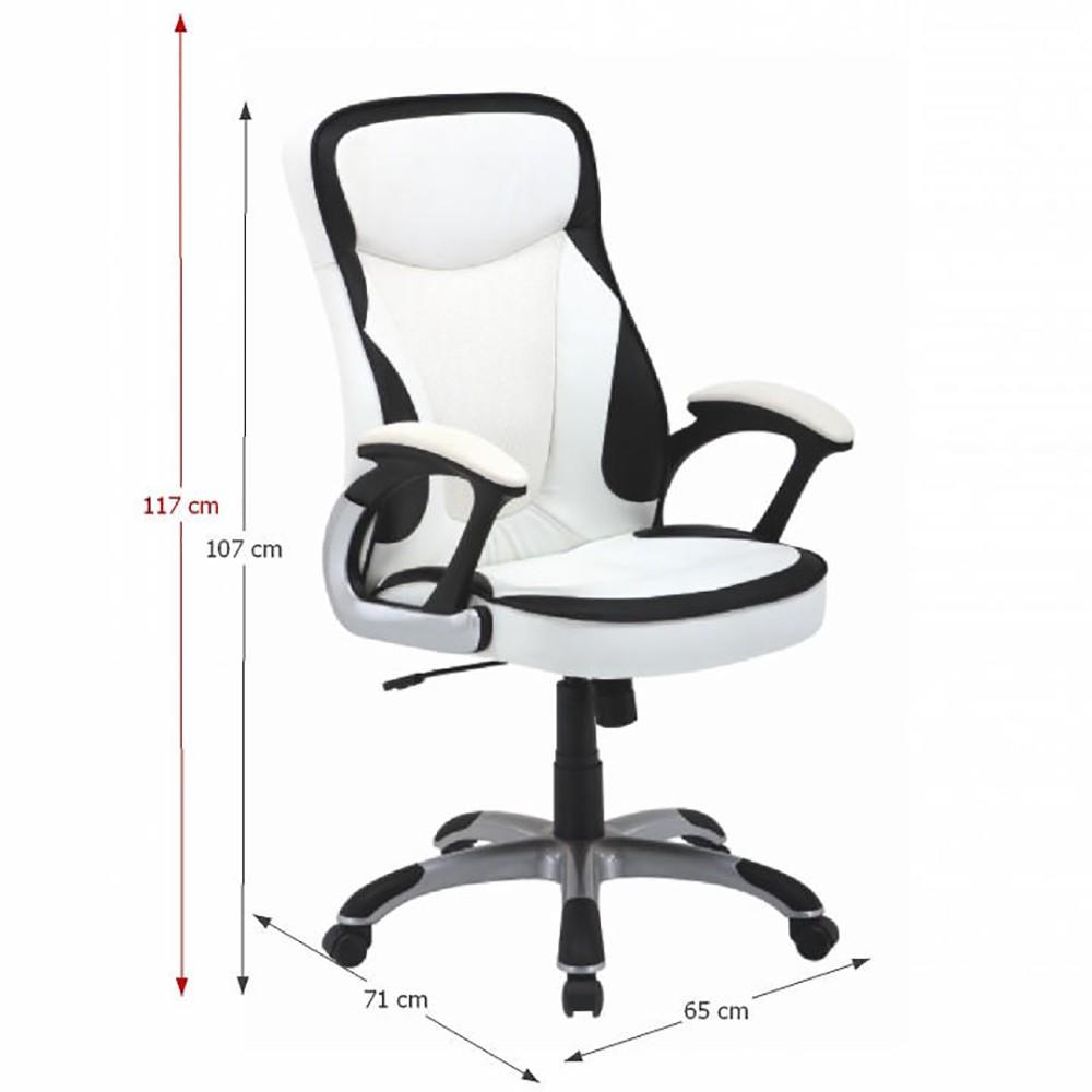 scaun directorial piele naturala 5500 negru negru