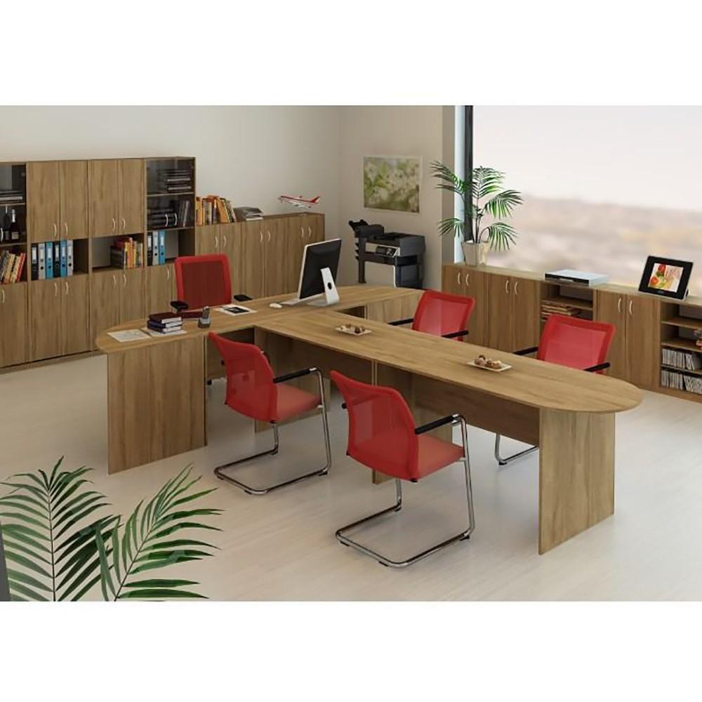 set masa plianta cu usa si sertar fag cu 6 scaune