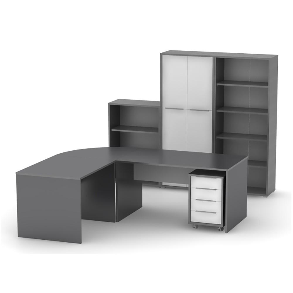 scaun directorial piele off 1621 negru negru